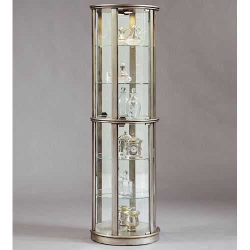 Pulaski Furniture Curios Platinum Glass Door Curio Cabinet