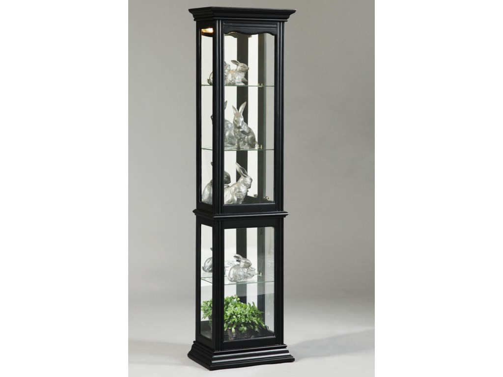 Curios oxford black curio cabinet by pulaski furniture