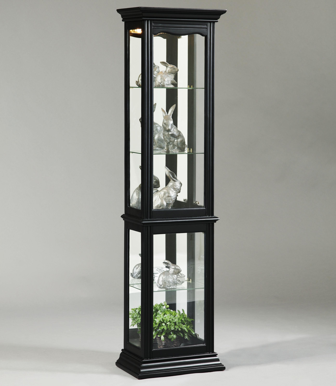 curios oxford black curio cabinet by pulaski furniture