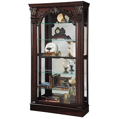 Pulaski Furniture Curios Traditional Style Sliding Front Curio Cabinet