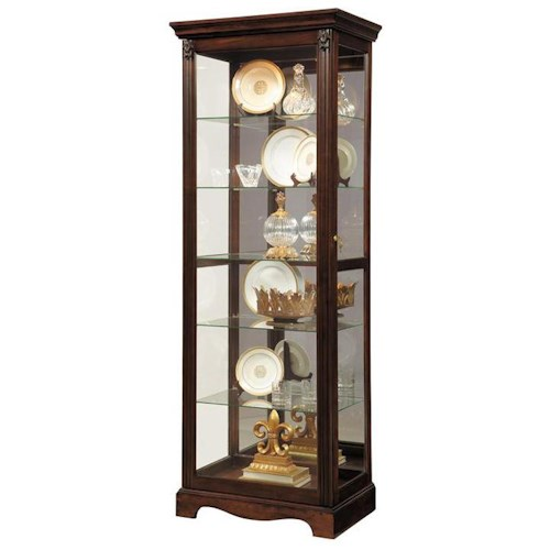 Pulaski Furniture Curios Lit Curio w/ Mirror Backing