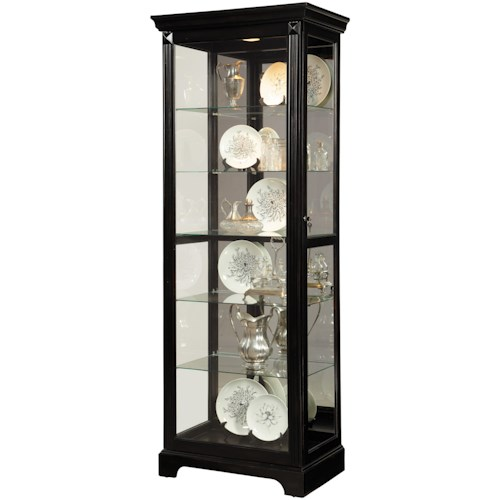 Pulaski Furniture Curios Lit Curio w/ Mirror Backing