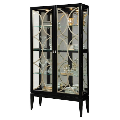 Pulaski Furniture Curios Two-Door Curio Cabinet w/ Mirrored Back