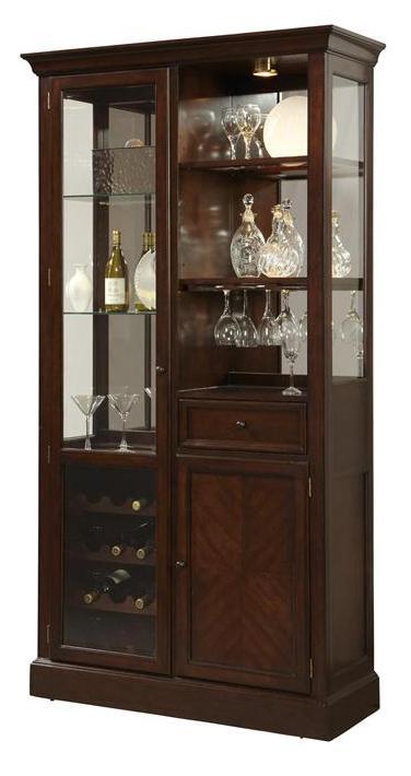 Curios Curio Wine Cabinet W/ LED Lighting By Pulaski Furniture