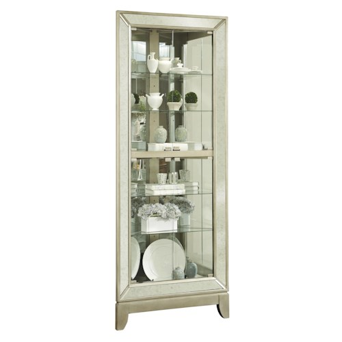 Pulaski Furniture Curios Corner Curio w/ Mirror Frame