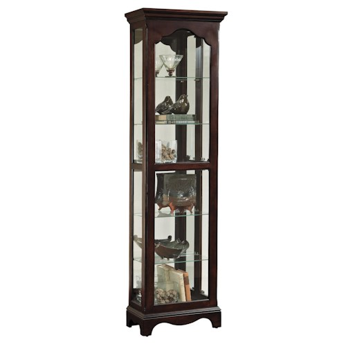 Pulaski Furniture Curios Narrow Traditional Curio Cabinet