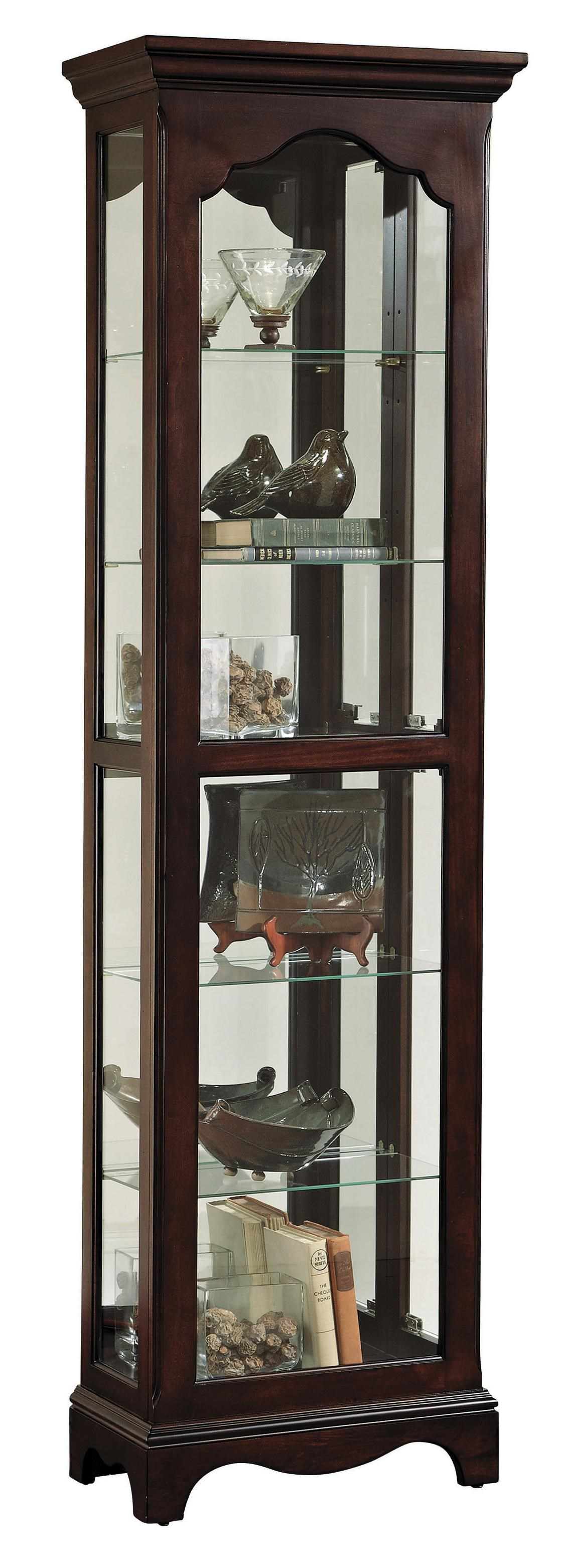 Lovely Curios Narrow Traditional Curio Cabinet By Pulaski Furniture