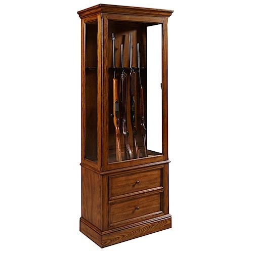 Pulaski Furniture Curios Gun Curio Cabinet Design Interiors Curio Cabinet