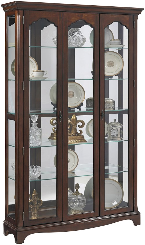 Pulaski Furniture Curios Tradtional Wide Curio w/ Glass Shelves