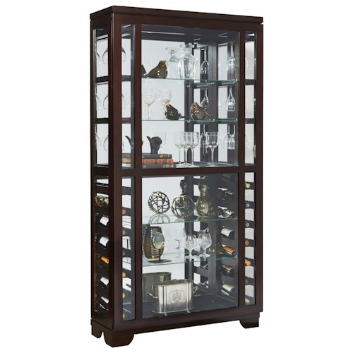 Pulaski Furniture Curios Wine Display Curio with Two LED Lights