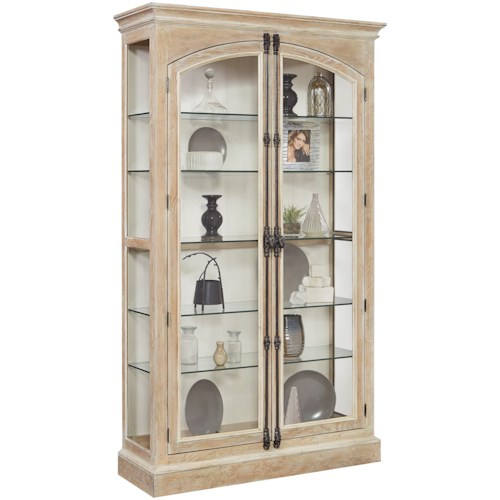 Pulaski Furniture Curios Door Curio with Cremone Bolt Door Hardware