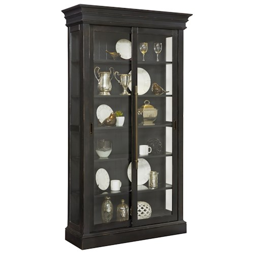 Pulaski Furniture Curios Sliding Door Curio in Charcoal Finish