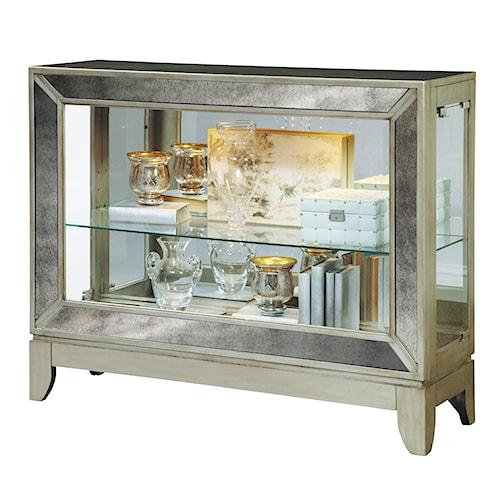 Pulaski Furniture Curios Low Curio w/ Antiqued Mirrored Panels