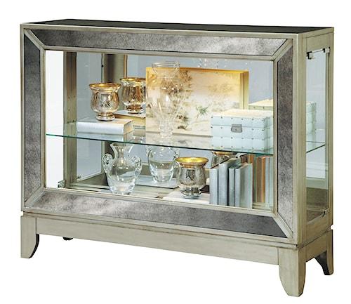 Pulaski Furniture Curios Low Curio w/ Antiqued Mirrored Panels - Pulaski Furniture Curios Low Curio W/ Antiqued Mirrored Panels