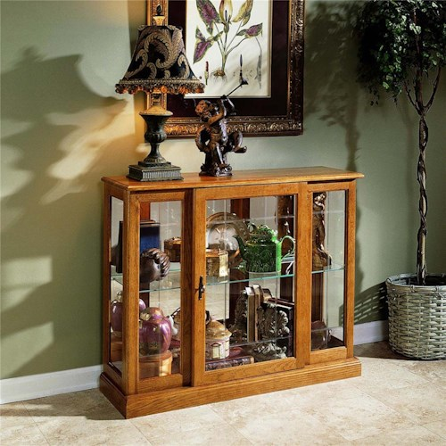 Pulaski Furniture Curios Golden Oak III Console