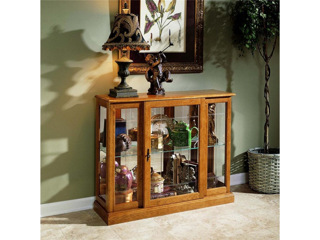 Curios Golden Oak Iii Console By Ski Furniture