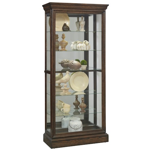 Pulaski Furniture Curios Sliding Front Curio with Mirrored Back