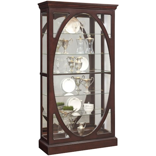 Pulaski Furniture Curios Sliding Door Curio in Sable Finish
