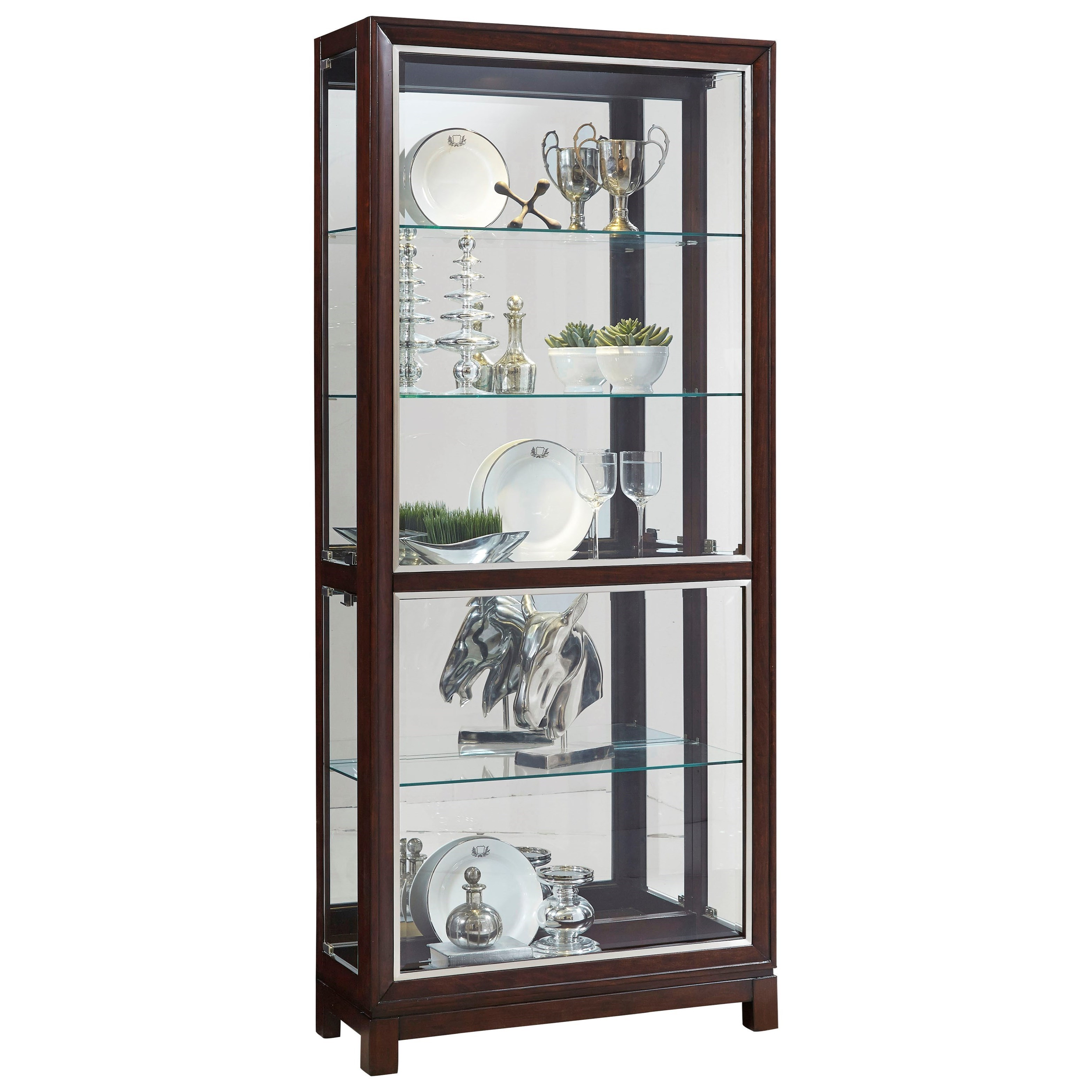 Genial Curios Side Entry Curio With Touch Lighting By Pulaski Furniture