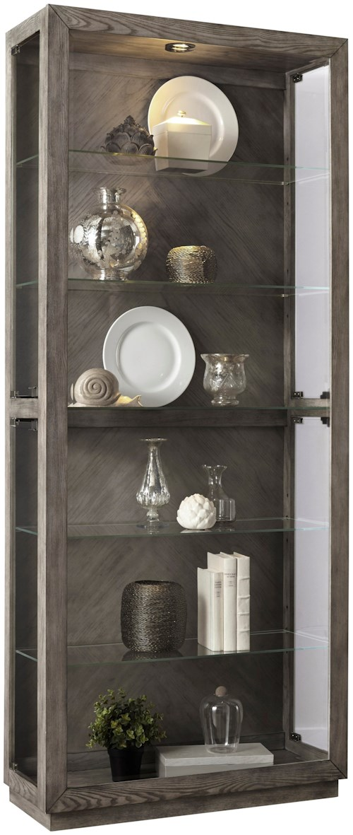 Pulaski Furniture Curios Side Entry Curio with 5 Shelves and Lighting