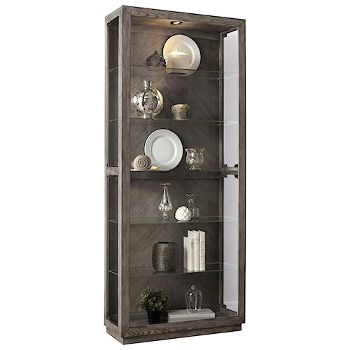 Pulaski Furniture Curios Side Entry Curio with 5 Shelves and Lighting