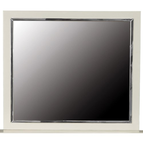 Pulaski Furniture Cydney Beveled Mirror in Cream Finish