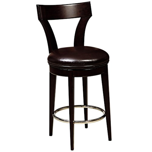 Pulaski Furniture Evo Swivel Bar Stool w/ Upholstered Seat