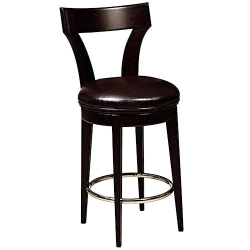 Pulaski Furniture Evo Swivel Bar Stool w/ Upholstered Seat