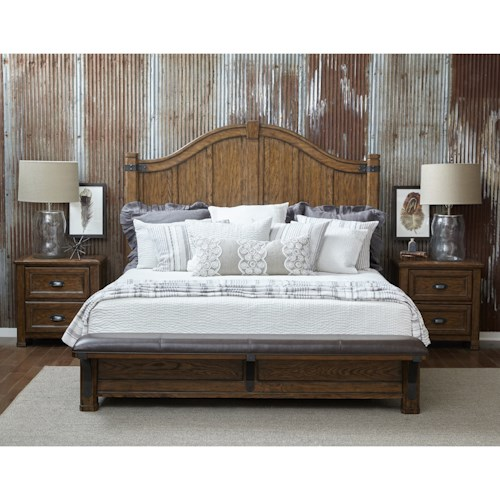 Pulaski Furniture Heartland Falls King Bedroom Group