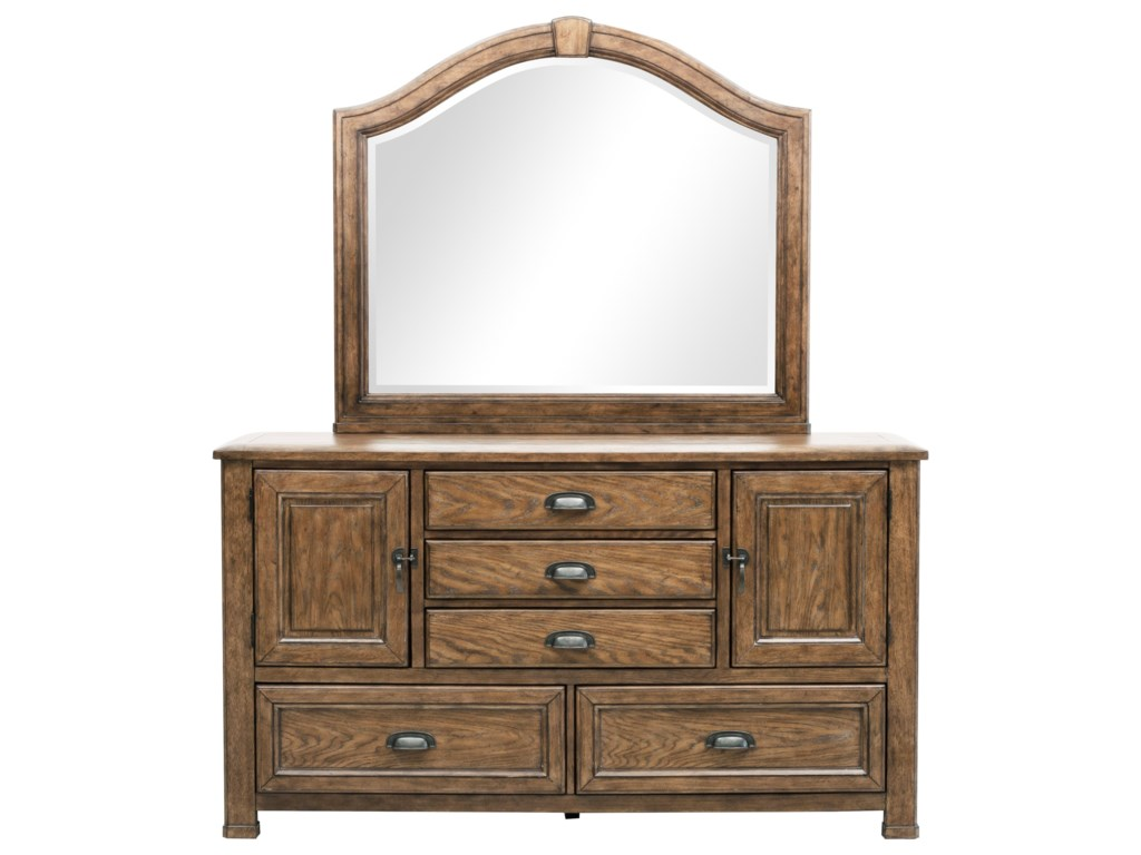 Eric Church S Highway To Home By Ski Heartland Falls 5 Drawer Dresser And Arched Top Mirror Combo Darvin Furniture Sets