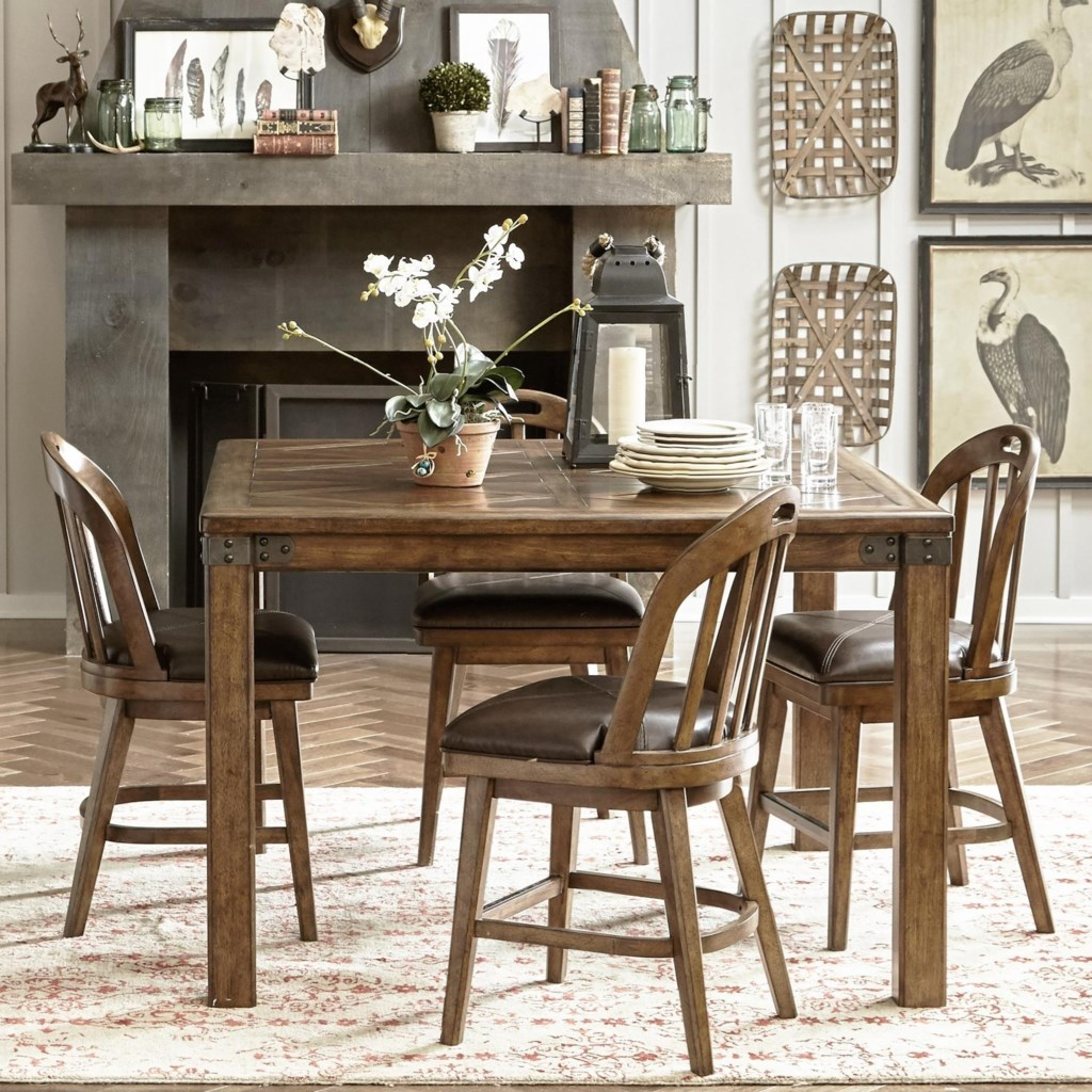 eric church s highway to home by pulaski eric church heartland eric church s highway to home by pulaski eric church heartland falls 5 piece gathering table and windsor chair set darvin furniture pub table and stool