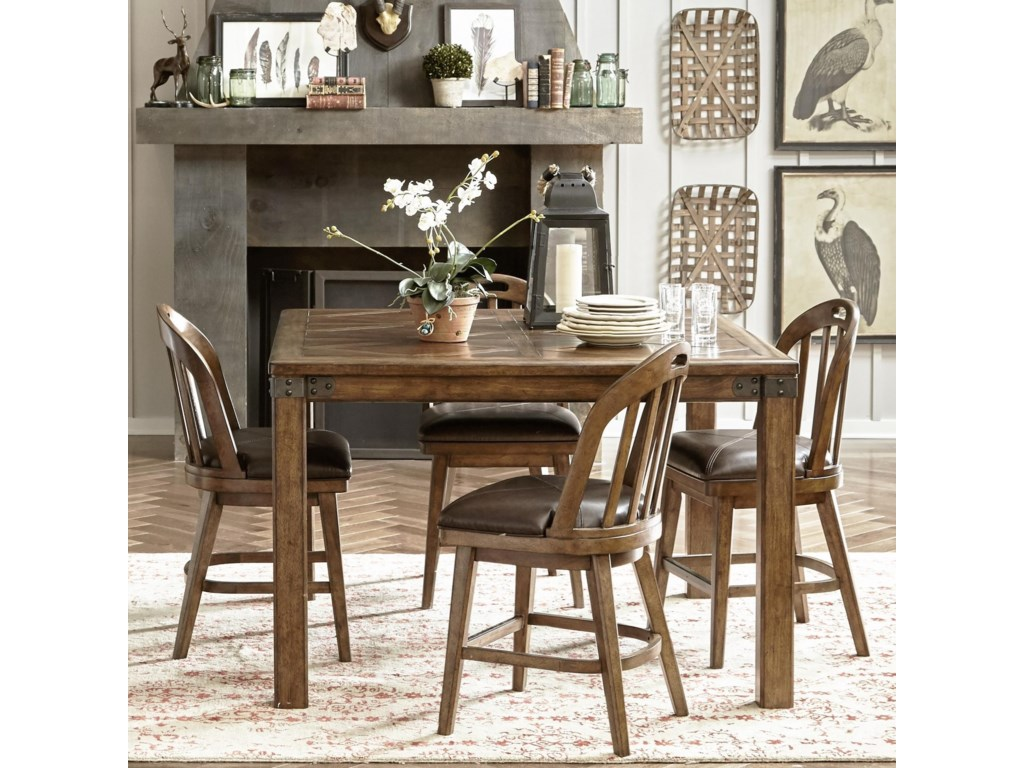 Eric Churchs Highway To Home By Pulaski Church Heartland Falls5 Piece Gathering Table And Chair