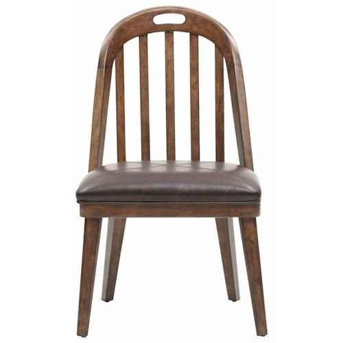 Pulaski Furniture Heartland Falls Windsor Side Chair with Bonded Leather Seat