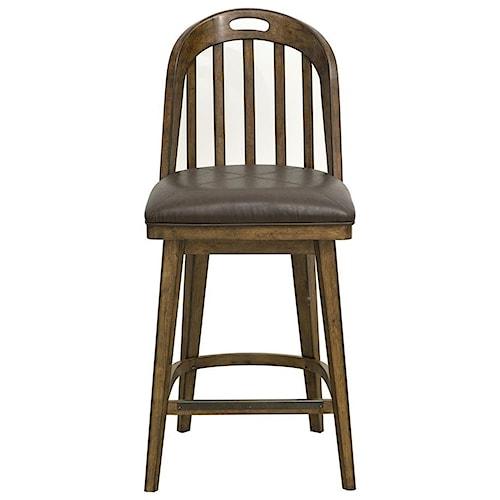 Pulaski Furniture Heartland Falls Bar Stool with Windsor Style Back