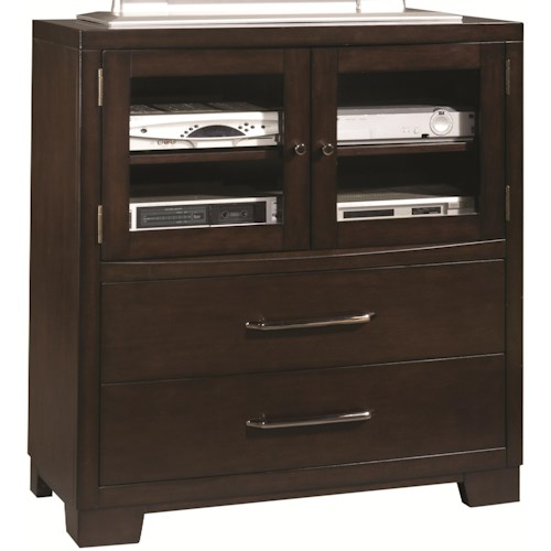 Pulaski Furniture Accents Media Chest with Two Drawer and Component Shelves