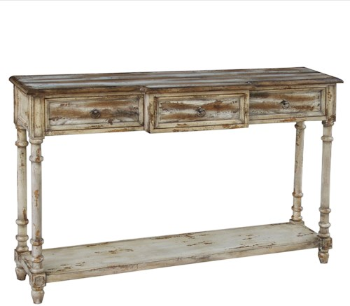 Pulaski Furniture Accents Distressed Console Table