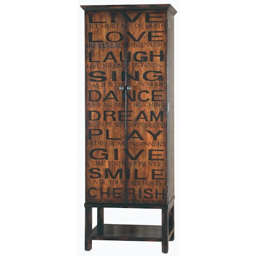 Pulaski Furniture Accents Greenwich Villlage Wine Cabinet