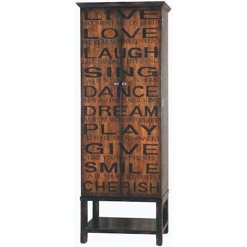 Pulaski Furniture Accents Greenwich Villlage Wine Cabinet