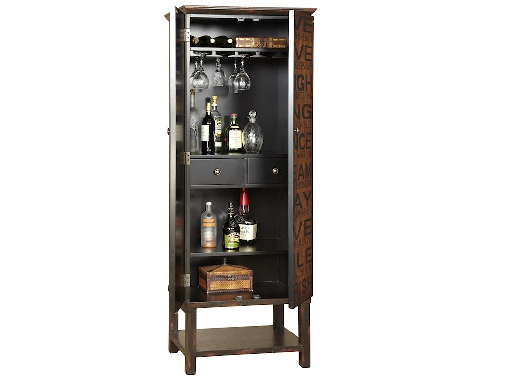 Detail of Interior Wine Cabinet