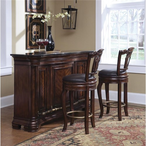 Pulaski Furniture Accents Toscano Vialetto Bar Set with Stools