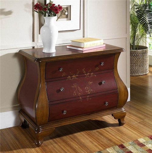 Pulaski Furniture Accents Center Stage Red/Brown Accent Chest