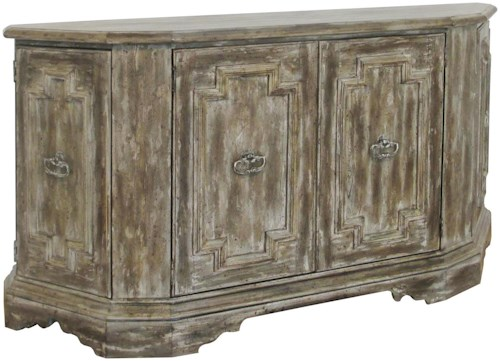 Pulaski Furniture Accents Weathered Four Door Credenza