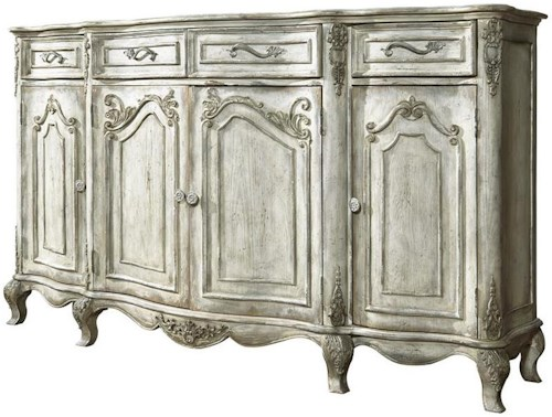 Pulaski Furniture Accents Traditional Credenza w/ Floral Motifs