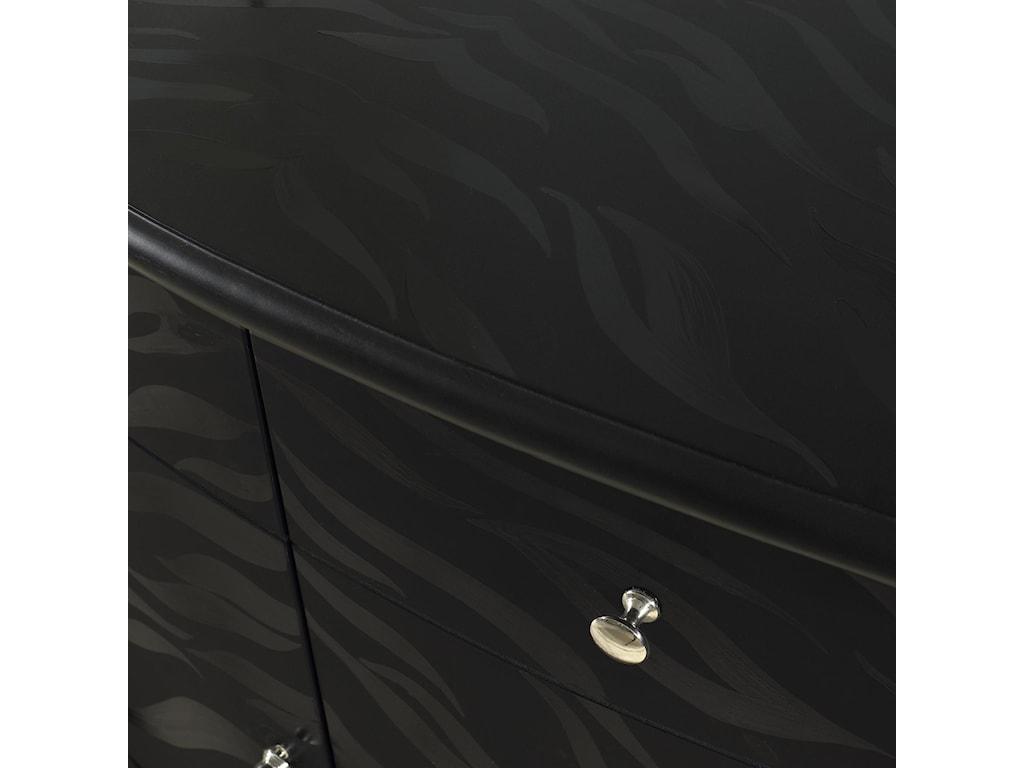 Close Up of Black Tiger Finish