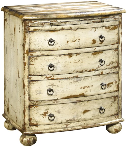 Pulaski Furniture Accents White-Washed Colton Accent Chest with Pewter Finished Hardware