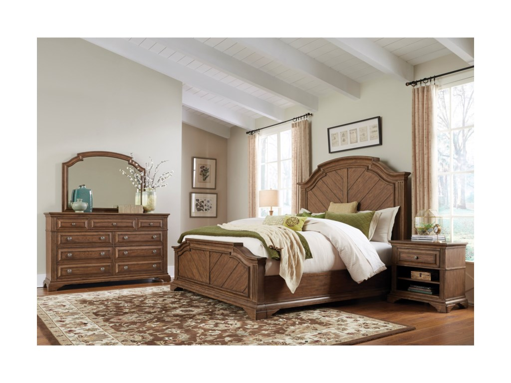 Pulaski Furniture Jackson LakeQueen Panel Bed