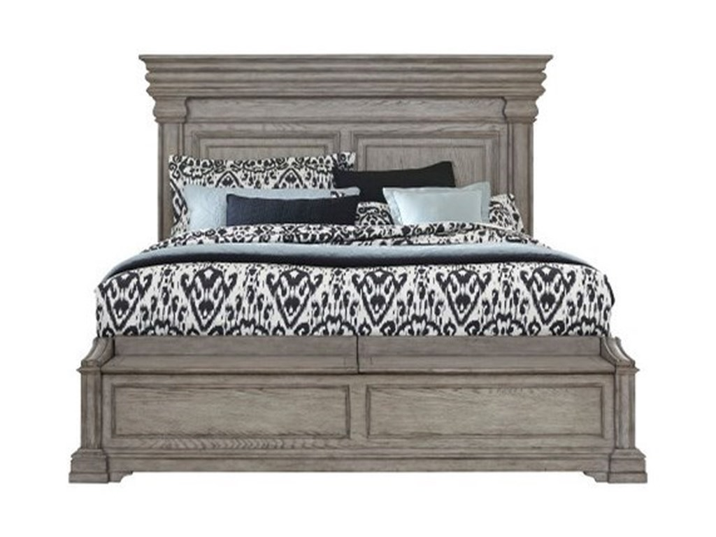 Pulaski Furniture Madison RidgeKing Panel Bed with Blanket Chest Footboard