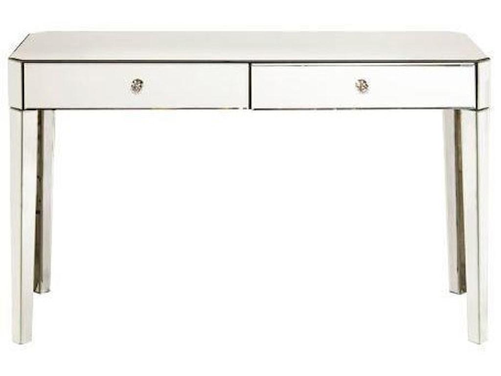 Ski Furniture Accent Piece Mirrored Desk