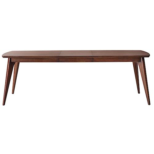 Pulaski Furniture Modern Harmony Mod Rectangular Angled Leg Extenstion Table