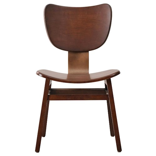 Pulaski Furniture Modern Harmony Curved Wood Side Chair